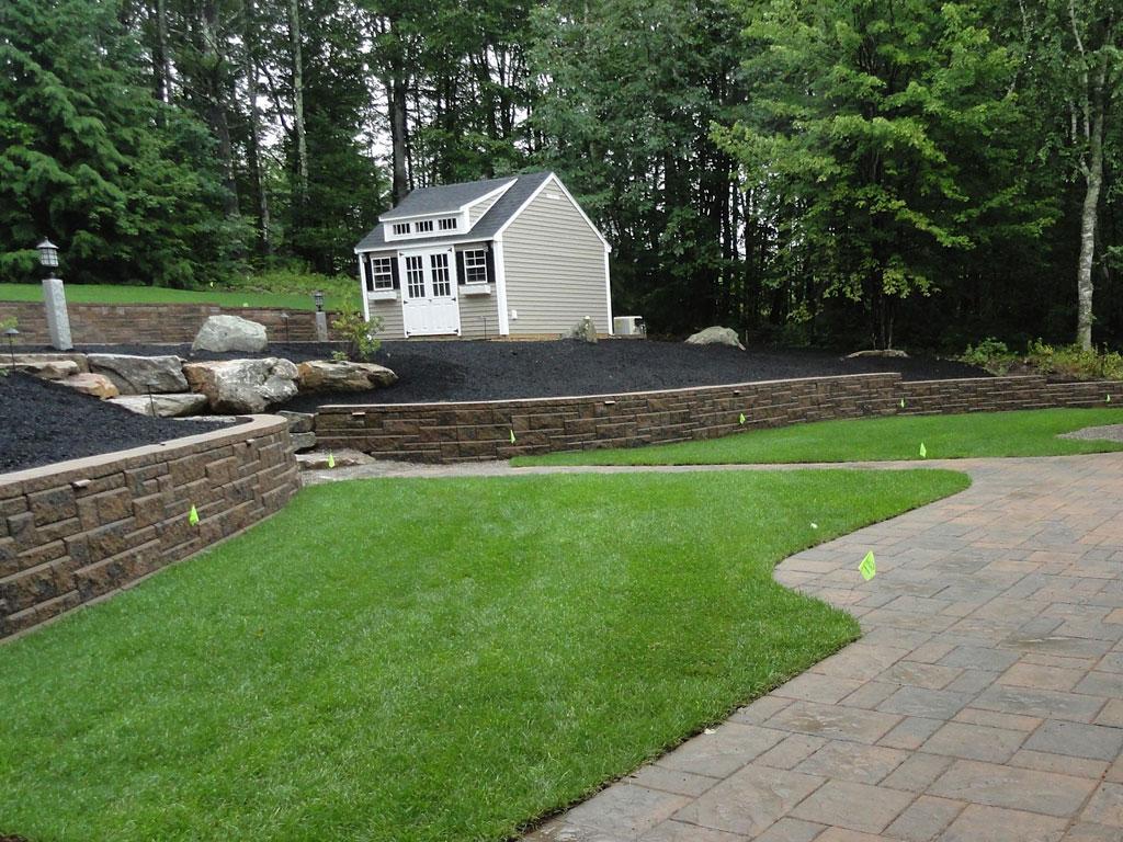 nashua retaining wall contractor patio walkways granite stairs